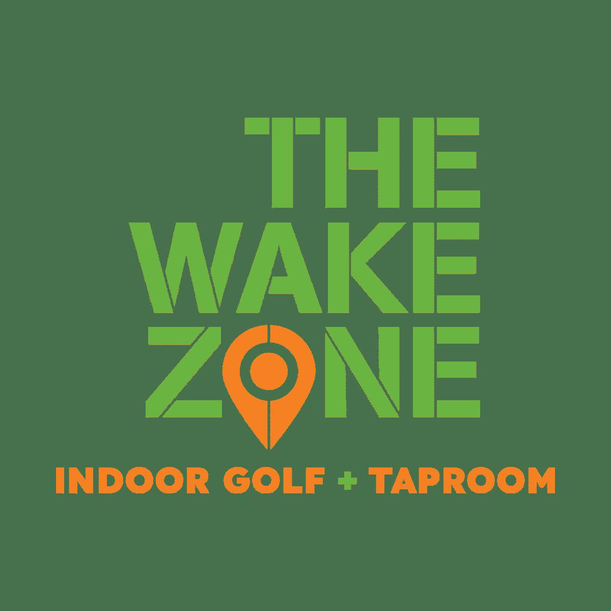 THE WAKE ZONE logo GREEN+ORANGE